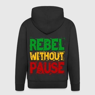 Rebell ohne Pause - Männer Premium Kapuzenjacke