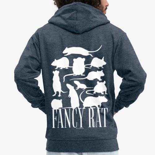 Fancy Rat - Miesten premium vetoketjullinen huppari
