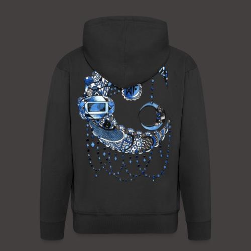 Lune dentelle bleue fonce - Veste à capuche Premium Homme