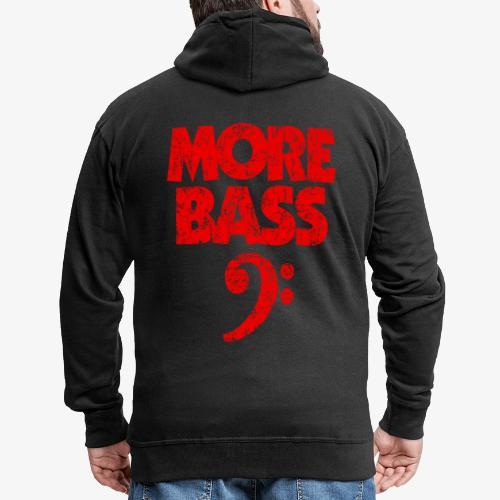 More Bass (Vintage/Rot) Bassisten - Männer Premium Kapuzenjacke