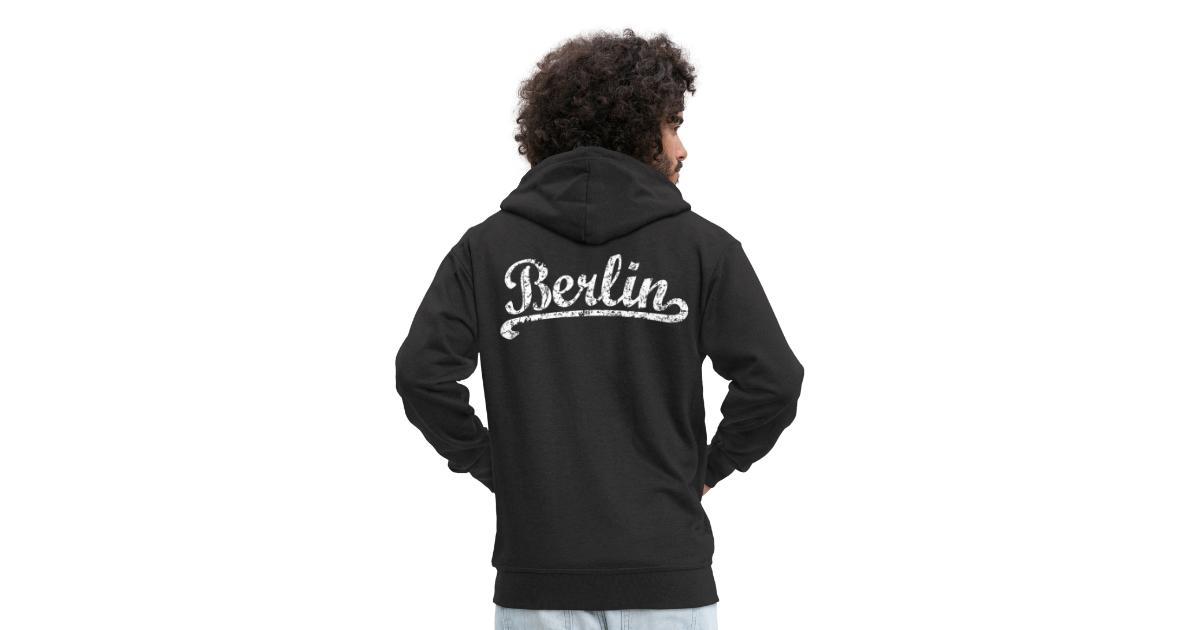 Berlin T ShirtsTops Hoodies und Geschenkideen | Berlin Classic (VintageWeiß) Männer Premium Kapuzenjacke