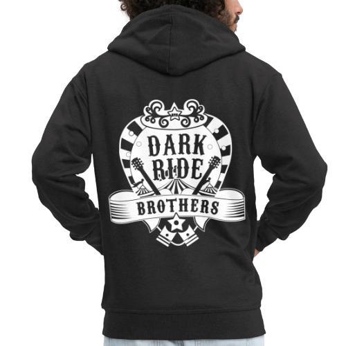 Dark Ride Brothers - Miesten premium vetoketjullinen huppari