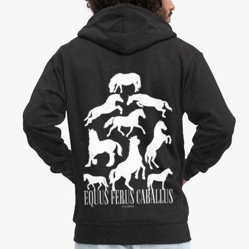 Equus Ferus Caballus - Miesten premium vetoketjullinen huppari