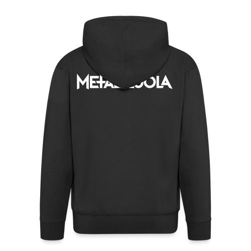 Metalliluola logo - Miesten premium vetoketjullinen huppari