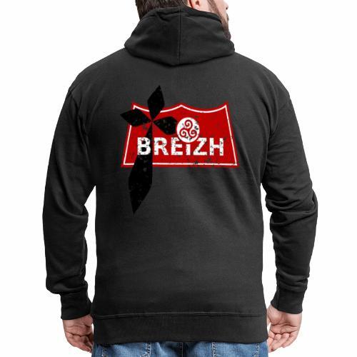 Breizh Usé - Veste à capuche Premium Homme
