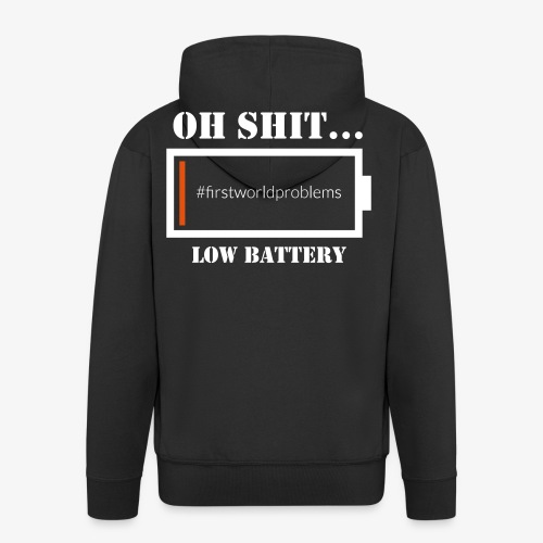 Low Battery - Männer Premium Kapuzenjacke