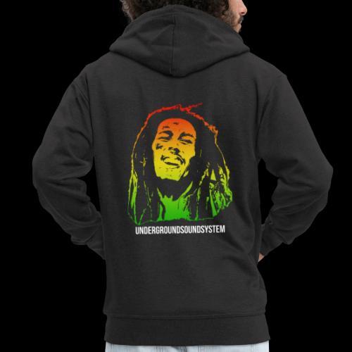 King of Reggae - Männer Premium Kapuzenjacke