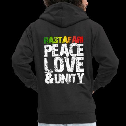 RASTAFARI - PEACE LOVE & UNITY - Männer Premium Kapuzenjacke