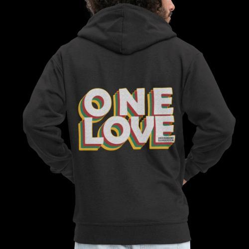 ONE LOVE - Männer Premium Kapuzenjacke