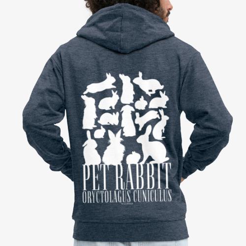 Pet Rabbit - Miesten premium vetoketjullinen huppari