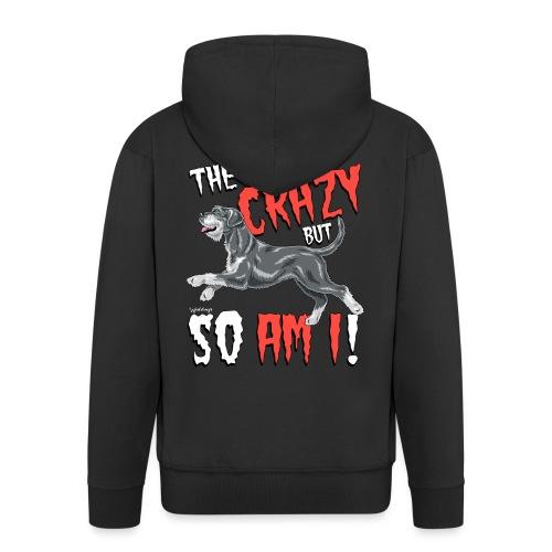 Giant Schnauzer Riesen Crazy - Men's Premium Hooded Jacket