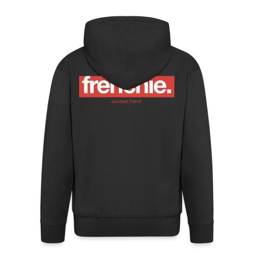Frenchie Banner - Französische Bulldogge - Männer Premium Kapuzenjacke