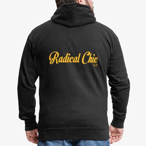 radical chic - Felpa con zip Premium da uomo
