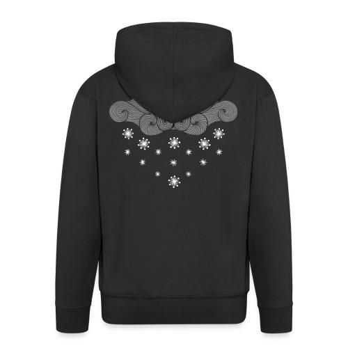 nuage gris et flocons vacances d'hiver - Veste à capuche Premium Homme