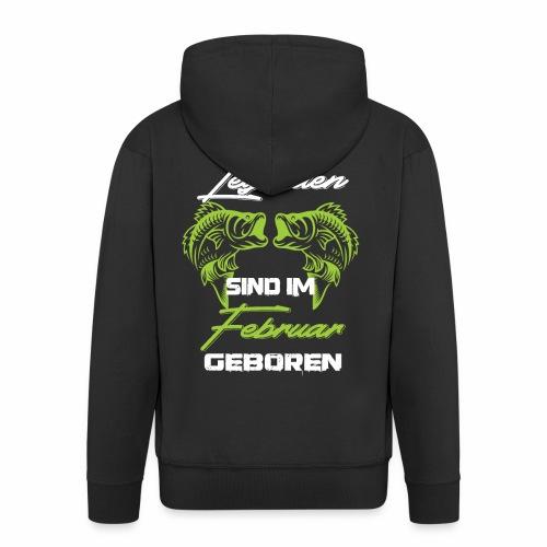Angler Legenden Geburtstag Angeln Fischer Geschenk - Männer Premium Kapuzenjacke