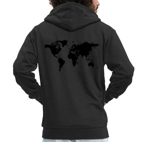 World Map - Männer Premium Kapuzenjacke