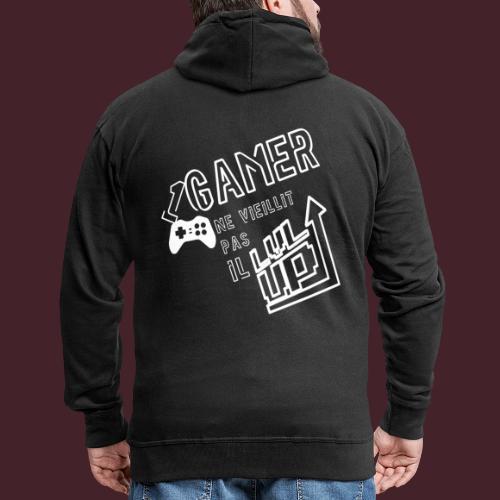 Gameur Manette Blanc - Veste à capuche Premium Homme