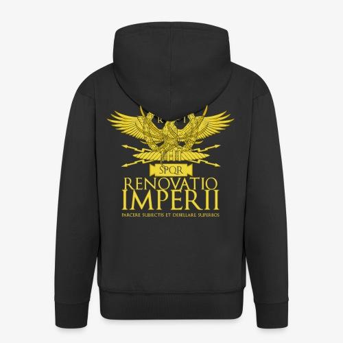 Emblema Renovatio Imperii - Felpa con zip Premium da uomo