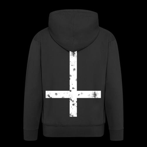 inverted cross white png - Men's Premium Hooded Jacket