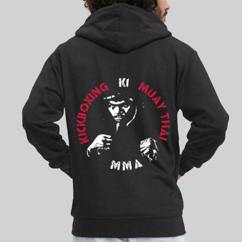 MMA Fighter Face - 2 colors - Men's Premium Hooded Jacket