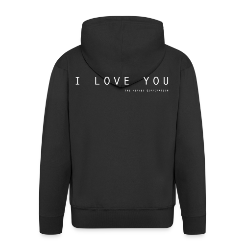 I Love You by The Nerved Corporation - Men's Premium Hooded Jacket