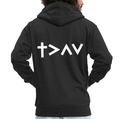 Jesus is greater than the Ups and Downs! - Männer Premium Kapuzenjacke