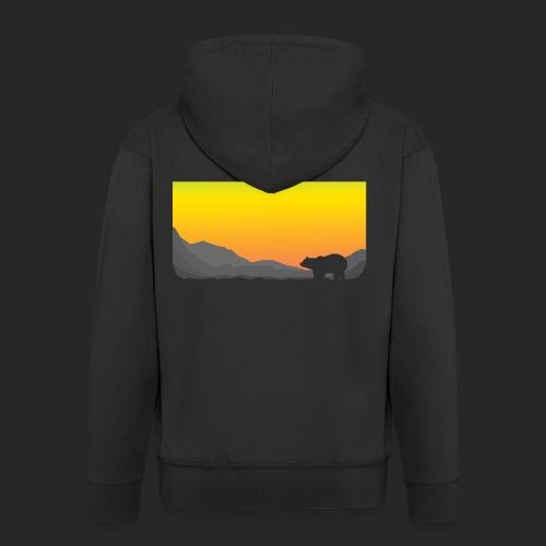 Sunrise Polar Bear - Men's Premium Hooded Jacket