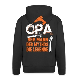 opa der mann der mythos die legende - bester opa - Veste à capuche Premium Homme