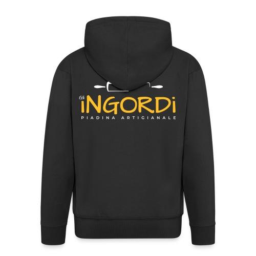 Gli Ingordi - Felpa con zip Premium da uomo