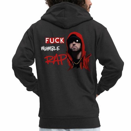 Fuck Mumble Rap - Männer Premium Kapuzenjacke