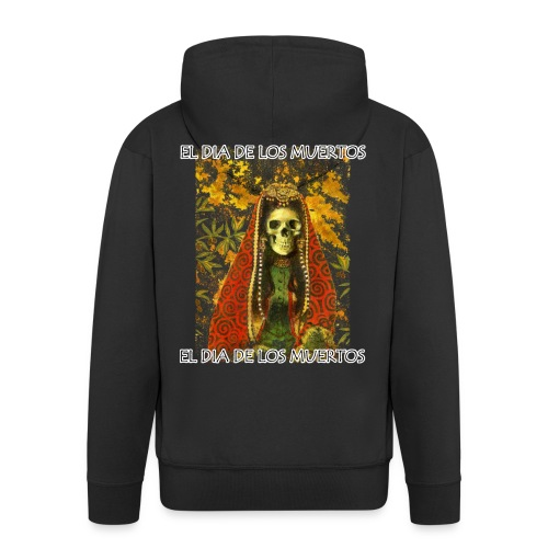 El Dia De Los Muertos Skeleton Design - Men's Premium Hooded Jacket