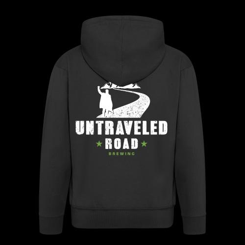 Untraveled Road Logo - weiß - Männer Premium Kapuzenjacke