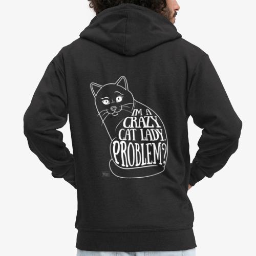 Crazy Cat Lady II - Miesten premium vetoketjullinen huppari
