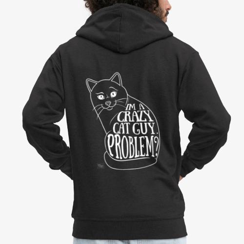 Crazy Cat Guy II - Miesten premium vetoketjullinen huppari