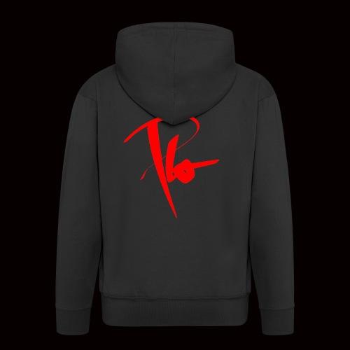 Plo Rotes Logo - Männer Premium Kapuzenjacke