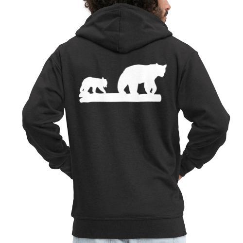 Bär Bären Grizzly Raubtier Wildnis Nordamerika - Männer Premium Kapuzenjacke