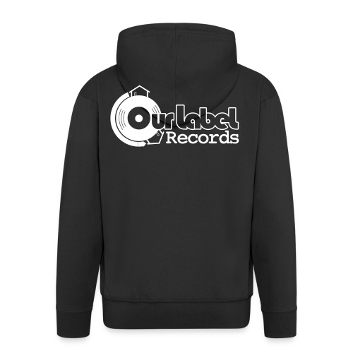 OurLabelRecords black outlines - Men's Premium Hooded Jacket