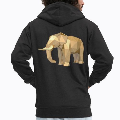 elephant geometric - Men's Premium Hooded Jacket
