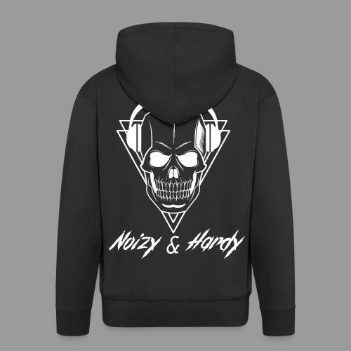 Noizy & Hardy weißes Logo - Männer Premium Kapuzenjacke