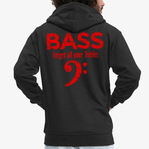 BASS Forget all your trebles (Vintage/Rot) - Männer Premium Kapuzenjacke