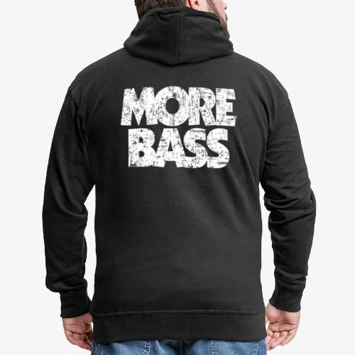More Bass (Vintage/Weiß) Bassist Bassisten - Männer Premium Kapuzenjacke