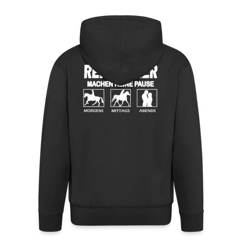 Reitlehrer - Reiten - Reiter - Reiterin - Lustig - Männer Premium Kapuzenjacke