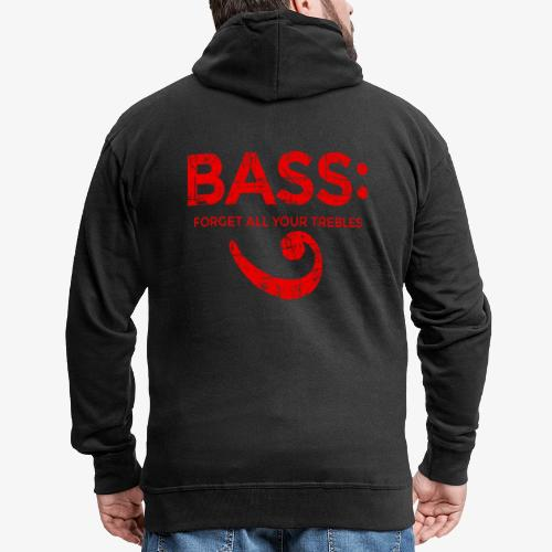 BASS - Forget all your trebles (Vintage/Rot) - Männer Premium Kapuzenjacke