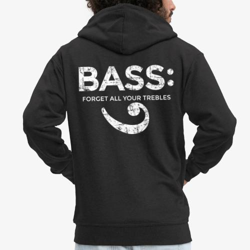 BASS - Forget all your trebles (Vintage/Weiß) - Männer Premium Kapuzenjacke