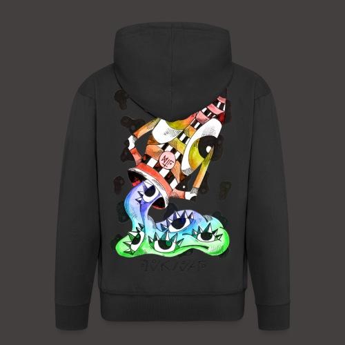 Verseau multi-color - Veste à capuche Premium Homme