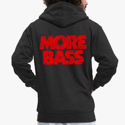 More Bass (Vintage/Rot) Bassist Bassisten - Männer Premium Kapuzenjacke