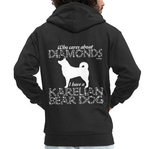 Karelian Bear Dog Diamonds - Miesten premium vetoketjullinen huppari