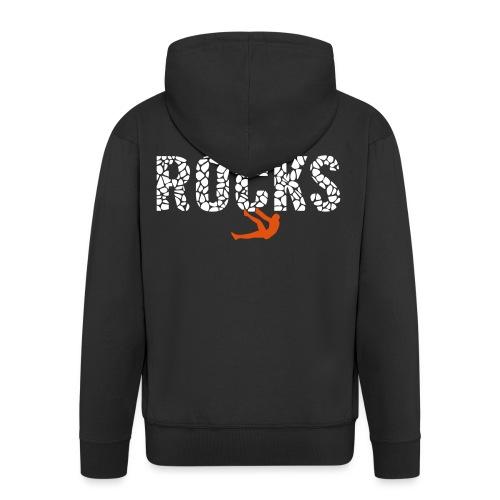 Rocks_4 - Männer Premium Kapuzenjacke