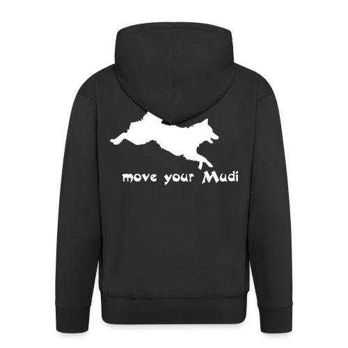 moyomu white - Men's Premium Hooded Jacket