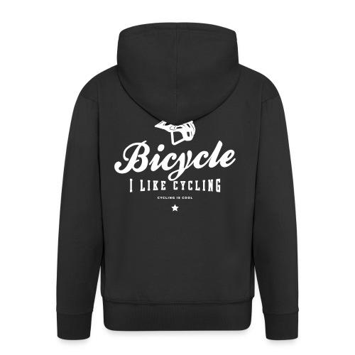 bicycle - Rozpinana bluza męska z kapturem Premium